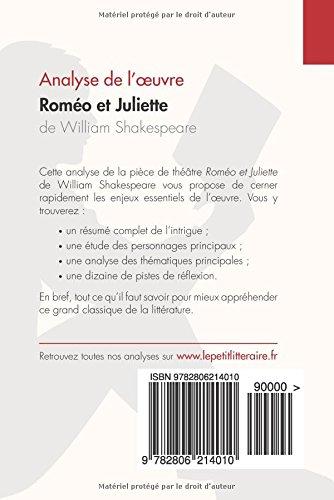 amazon fr roméo et juliette de william shakespeare analyse de l