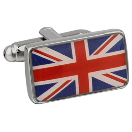 Union Jack United Kingdom Flag Great Britain UK Cufflinks Father (British Flag Cufflinks)