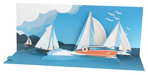 Panoramic Card (Up with Paper Pop-Up Panoramics Greeting Card - Sailing)