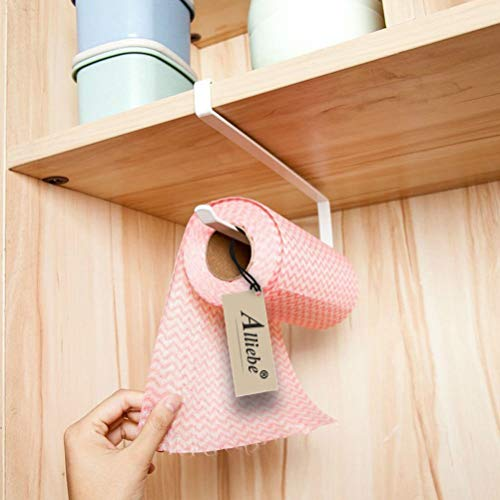 The Best 2pcs Paper Towel Holder Dispenser Under Cabinet Paper Roll Holder Rack Without Drilling For Kitchen Bathroom Easy To Use Paper Holders Bathroom Hardware