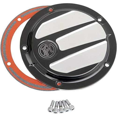 Performance Machine Scallop Contrast Cut Platinum 5-Hole Derby Cover 0177-2026-BMP