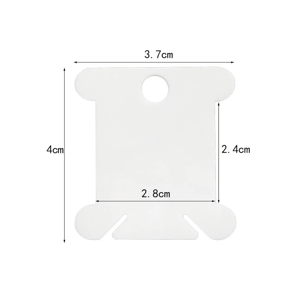 soporte de almacenamiento de pl/ástico 4cm//1.57 Width bobina de punto de cruz Fafalloagrron 100 piezas de hilo de bordar 2.7-3.7cm//1.06-1.46 Cream White