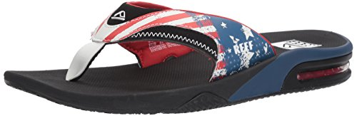 Reef Men's Fanning Prints Sandal, Stars/Stripes, 5 M US