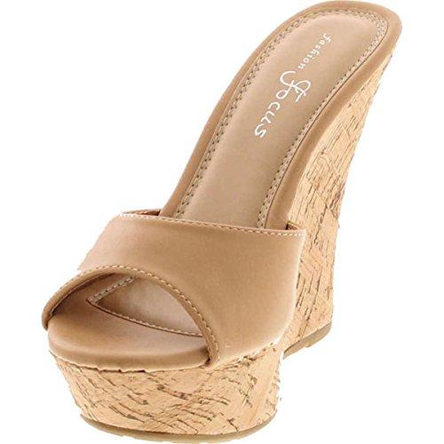 Focus Popular Womens 42 Ardo Tan Wedge Fashion Sandal FOdzwF