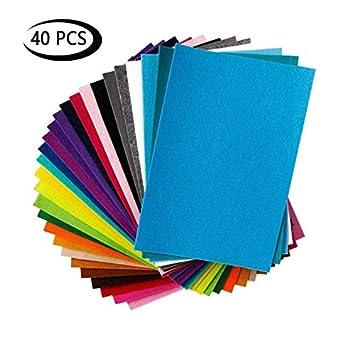 Shuny Fieltro para Manualidades, 40 Colores Fieltro Hojas ...
