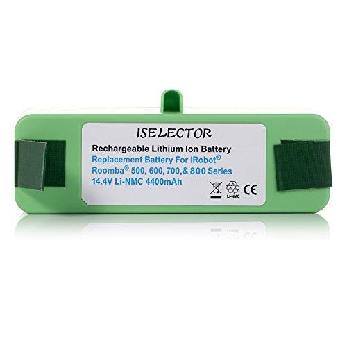 ISELECTOR Litio Batería de Repuesto para IROBOT ROOMBA 500,600,700 y 800 Series, 4400 mAh 14.4 V: Amazon.es: Hogar
