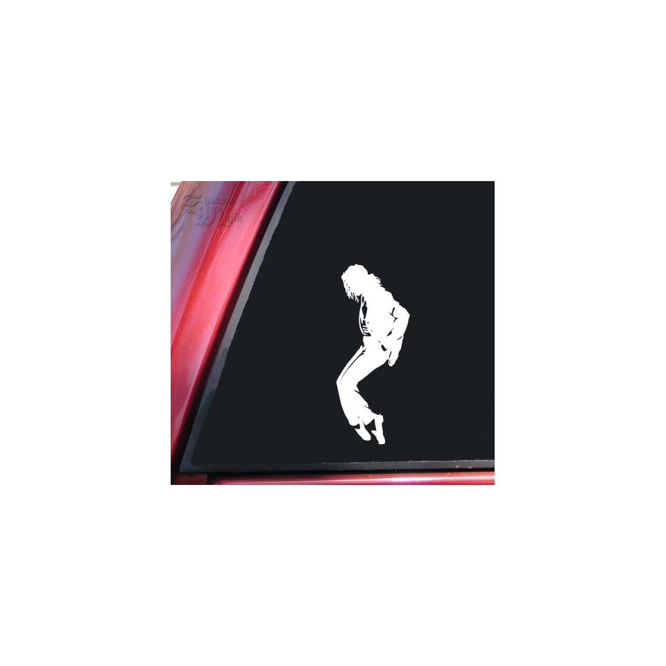 Michael Jackson Silhouette Vinyl Decal Sticker   White