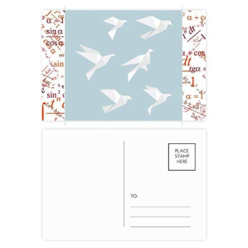 Origami Abstract Pigeon Geometric Shape Formula Postcard Set Thanks Card Mailing Side 20pcs -