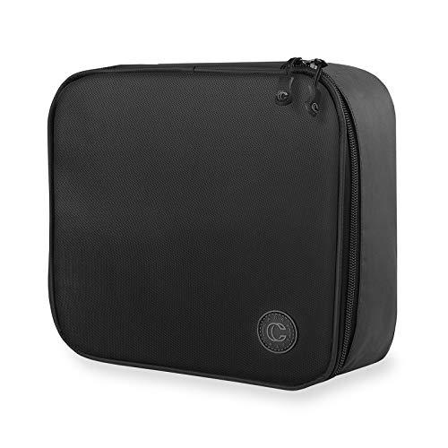 Carry Craft Travel Makeup Bag - Portable Soft Train Case Cosmetic Storage Organizer - Black