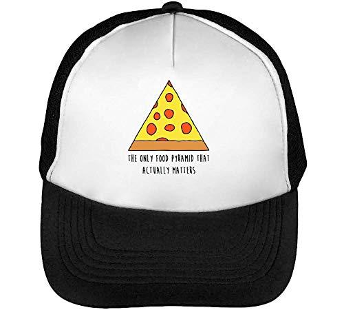 Snapback Hombre Beisbol Gorras Negro Blanco Pyramid Pizza fnATPxtw