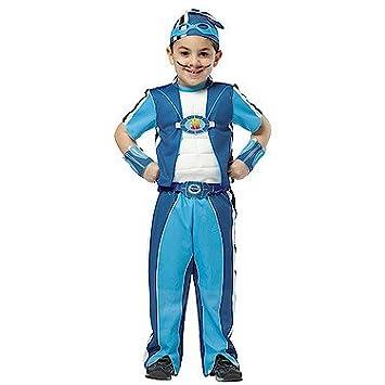 Disfraz Sportacus - para niños de 5-7 años: Amazon.es ...