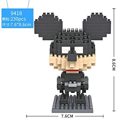 LOZ Micky Mouse Batman Diamond Mini Building Micro Block Brick Headz Baseplate DIY Figurine Bobble Head Collectible Developmental Toys Model Comics Collection Chistmas Gifts for Kids … …: Toys & Games