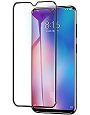 واقي شاشة لـ Xiaomi Mi 9 SE مقاوم للخدش ومضاد لبصمات الأصابع وواقي شاشة من الزجاج المقوى مقاوم للخدش (لون أسود)