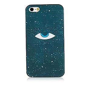 MOFY- patr-n de ojo negro marco de caso para el iphone 4 / 4s