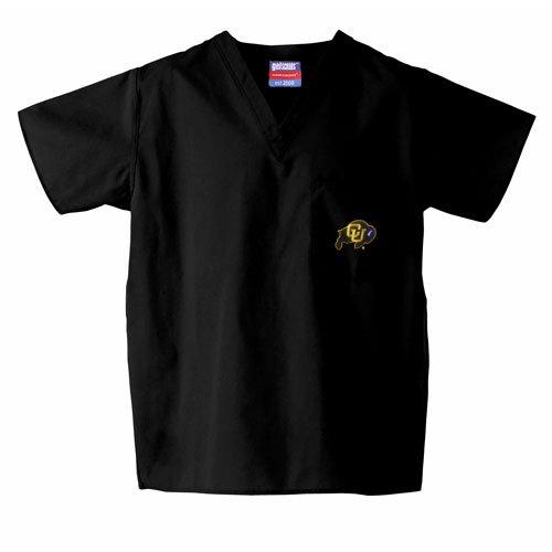 Colorado Golden Buffaloes Ncaa Classic Scrub 1 Pocket (Black) (3X (Colorado Scrub)