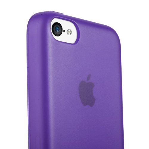 GGMM ipc00105 TPU Soft Slim Solid Color Case für Apple iPhone 5C purpur