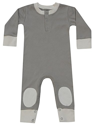 Cat & Dogma - Certified Organic Infant/Baby Clothes Moon/Natural Playsuit (18-24 - Uk Preppy