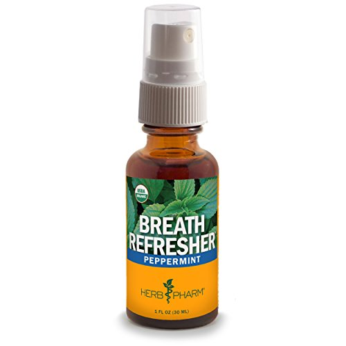 Herb Pharm Certified Organic Peppermint Herbal Breath Tonic Spray - 1 Ounce Herbal Tonic