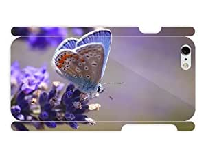 iPhone 6 cover case Animals - Flower Close Up Butterfly by heat sublimation