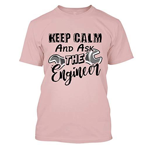 BigTees Engineer T Shirt - Keep Calm and Ask Engineer Cool T Shirts Design Unisex (XXXL,Pink)
