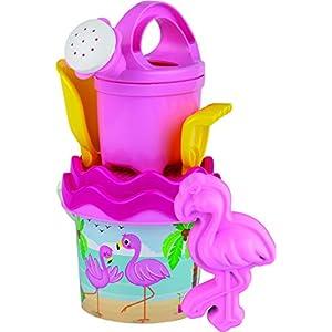 Androni Giocattoli- Secchiello Baby Fenicottero 1324 FEN, Multicolore, 1324fen 2 spesavip