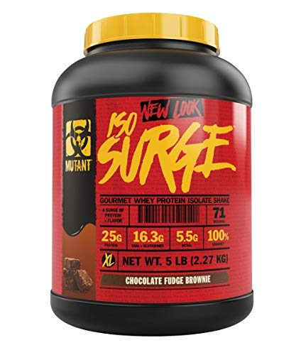 Mutant ISO Surge Whey Protein Powder Acts FAST to Help Recover, Build Muscle, Bulk and Strength, Uses Only High Quality Ingredients, 5 lb - Chocolate Fudge Brownie