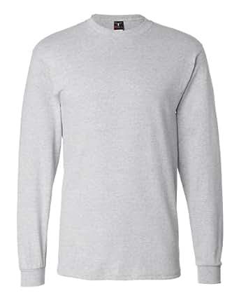 Hanes Adult Beefy-T Long-Sleeve T-Shirt 5186 S, Ash