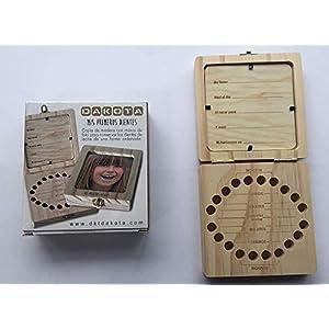 Caja de madera con portafoto para guardar los dientes de leche. Unisex. Para bebés, niños. Dakota. 1 unidad