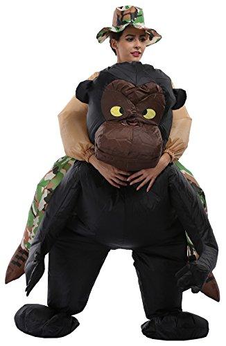 Goodsaleok Inflatable Adult Rider Halloween Animal Fancy Costume Chimpanzee -