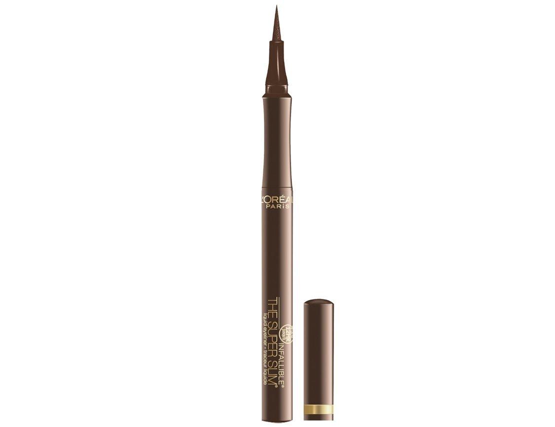 L'Oréal Paris Makeup Infallible Super Slim Long-Lasting Liquid Eyeliner, Brown, 0.034 fl. oz.