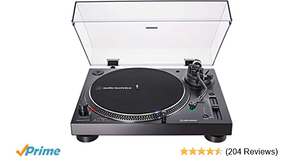 Audio-Technica AT-LP120XUSB Direct-Drive Turntable (Analog & USB), Black, Hi-Fidelity, Plays 33 -1/3, 45, and 78 RPM Records, Convert Vinyl to ...