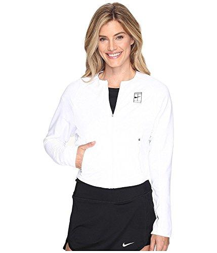 NIKE Women's Court Dri fit Tennis Jacket (White, Medium)