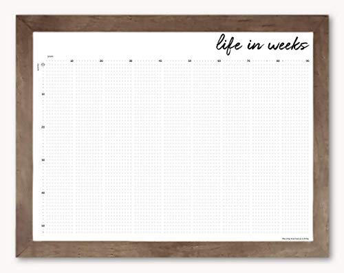 "My Life in Weeks Poster, 18"" L x 24"" W - A Powerful Way to Practice Mindfulness Each Week"
