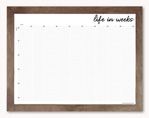 Heart Print Calendar - Life in Weeks Calendar, 18