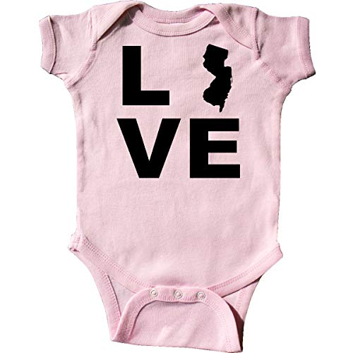 - inktastic - Love New Jersey Infant Creeper 12 Months Pink 21e69
