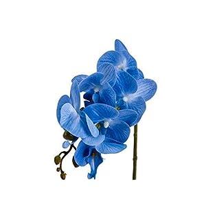 IMIEE Phaleanopsis Arrangement with Vase Decorative Artificial Orchid Flower Bonsai (Blue) 3