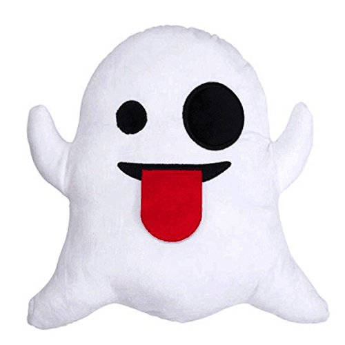 dhrbsx Car Cushion for Leaning on Soft Emoji Smiley face Hold Pillow Stuffed Stuffed Doll The White Ghost cradled The Pillow (Small Ghost) -