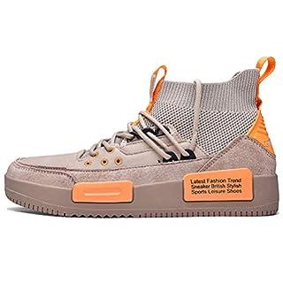 Mens Fashion Sneaker Stylish Running Shoes for Casual Sports Athletic Walking Shoe Khaki