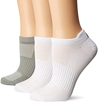 LPGA THE GRIPPER SOCKS 3-PAIR-Grey/WhiteWhite-9 to 11