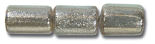 Paula Radke Silver Clear Dichroic 7x8 Tube - Clear Glass Dichroic Tube