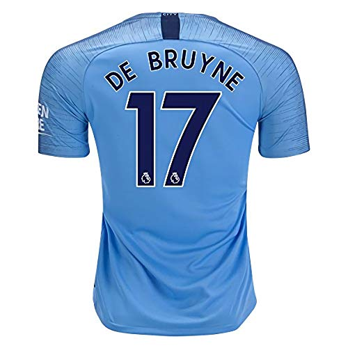 City Stadium 2018/2019 17 DE Bruyne Home Jersey Mens Blue M ()