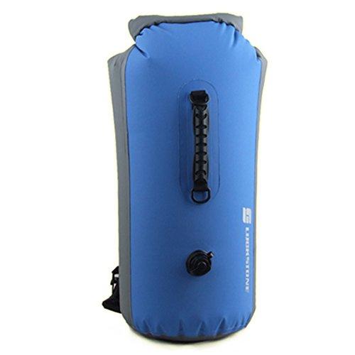 luckystone Outdoor 25L 35L 60L Dry Bag Sacco Impermeabile Galleggiante Borsa per barca, kayak, pesca, Rafting, Nuoto, Campeggio, canoa, blu, 60 l