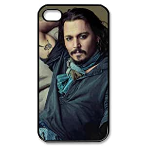 Custom Your Own Personalised Hard Johnny Depp iPhone 4/4S Cover , Snap On Johnny Depp iPhone 4/4S Case