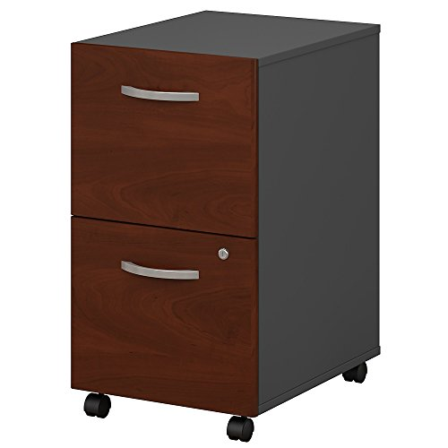 Bush Business Furniture Series C 2 Drawer Mobile File Cabinet in Hansen Cherry