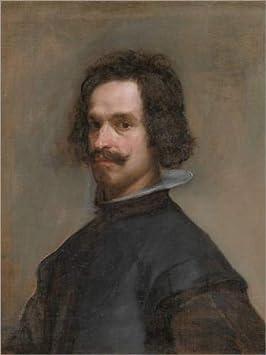 Lienzo 100 x 130 cm: Portrait of a Man de Diego Rodriguez de Silva y Velazquez - Cuadro Terminado, Cuadro sobre Bastidor, lámina terminada sobre Lienzo auténtico, impresión en Lienzo