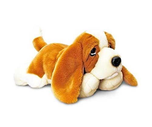 30cm Basset Soft Plush Toy Dog