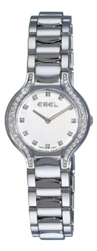 Ebel Beluga Mini Stainless Steel & Diamond Womens Luxury Swiss Watch 9003N18/691050