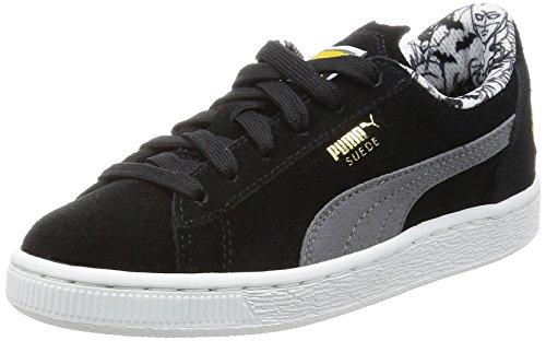 Baskets Puma Basses black Noir Ps Gray Batman Garçon steel rApqEAw