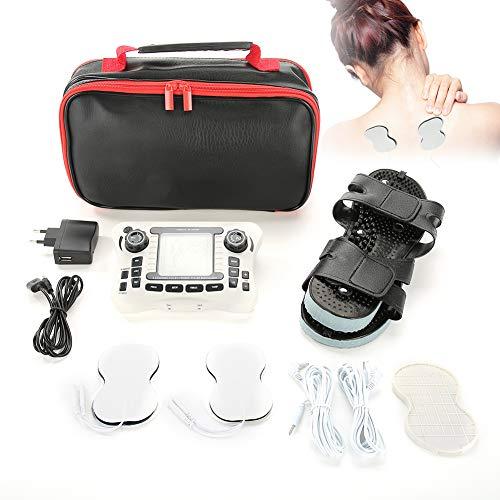 TechCare Plus 24 Modes Tens Unit Massager FDA Cleared Rechargeable Unit  Electric Complete Set + Reflexology Shoes Back Neck Pain Sciatica(U S