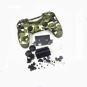 Carcasa Completa con Botones para PS4 Slim Pro para Playstation 4 DualShock 4 Slim Pro 4.0 JDS-040 JDM-040 Mando inalámbrico (Verde Militar): Amazon.es: Electrónica